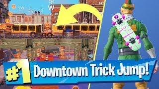 Hit any of the Trickjumps on either the Crane, Elevated Train or Fence during Downtown Drop Fortnite