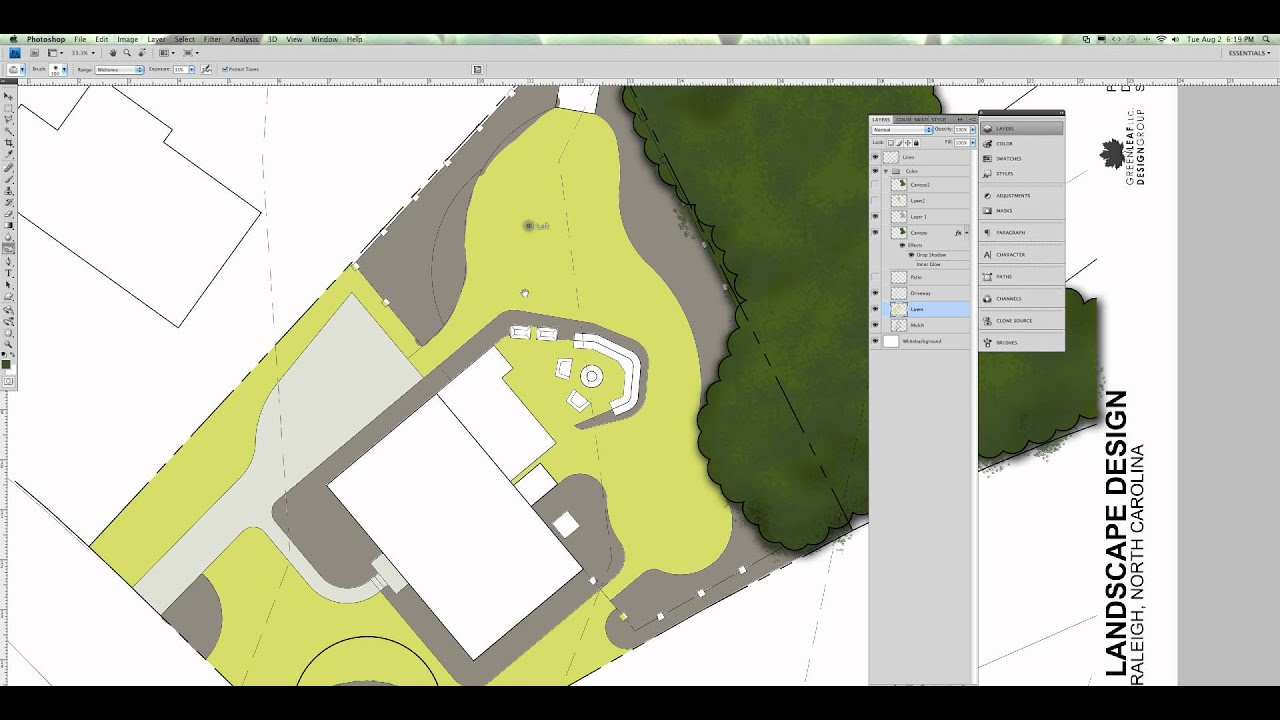 Site plan rendering in photoshop youtube for Site plan rendering software