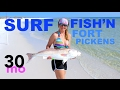 SURF FISHING Ft. Pickens for Bull Redfish - Pensacola Florida