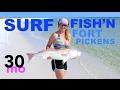SURF FISHING - Ft. Pickens Bull Redfish - pensacola florida beach