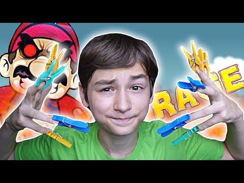 КОФЕ С ПРИЩЕПКАМИ! | Unfair Mario + Clothespin CHALLENGE!