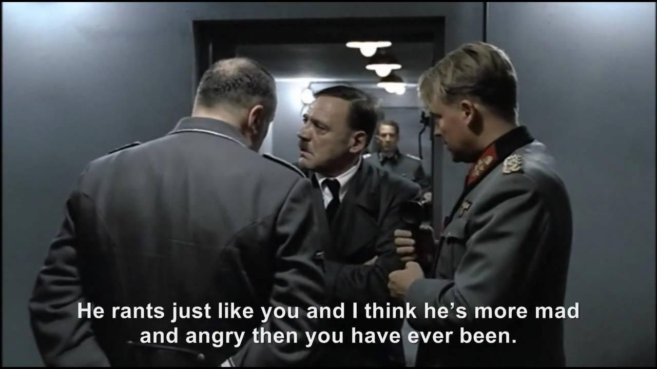 Hitler phones Reenactment Hitler