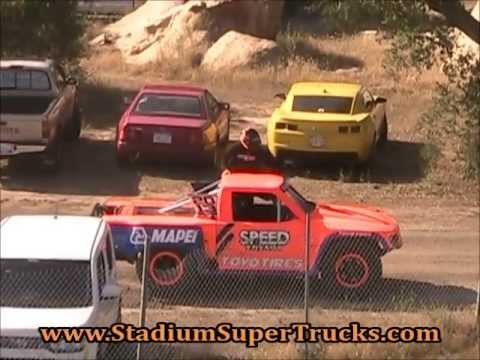 Robby Gordon's  Stadium Super Truck Test Laps Barona Speedway 5-11-2013