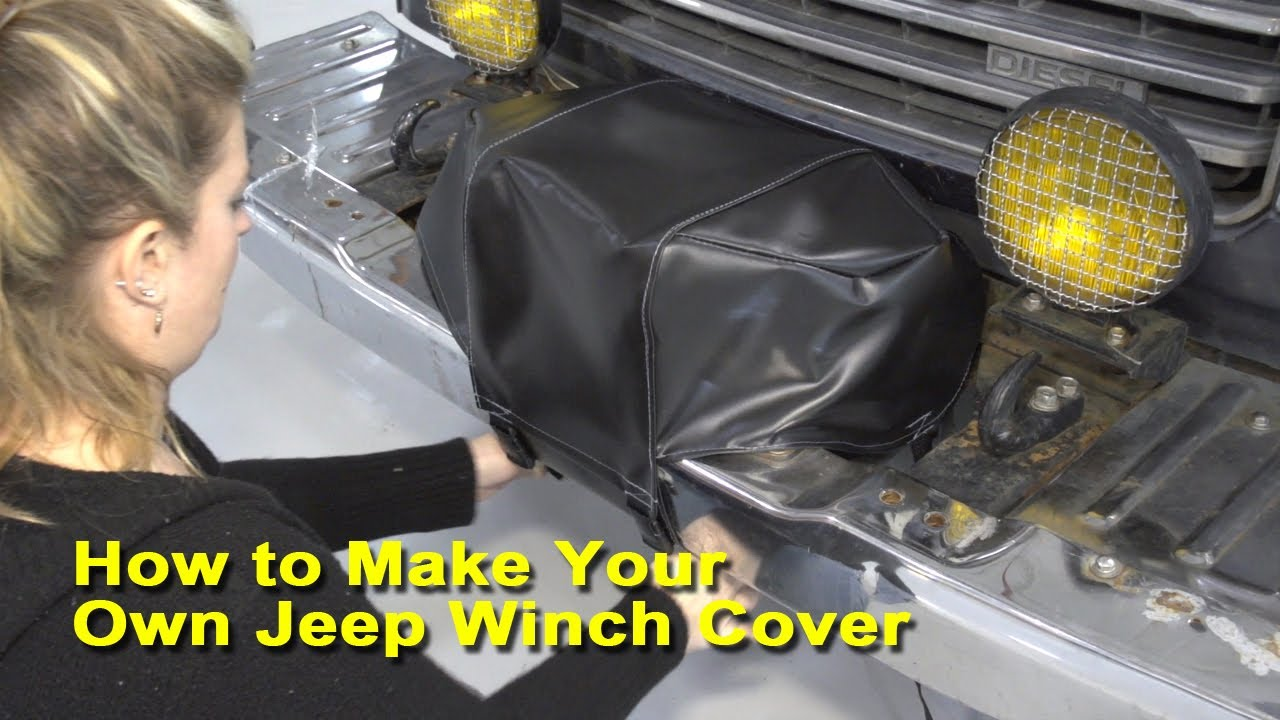 How To Make Your Own Jeep Winch Cover Youtube