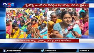 Nizamabad: Yellow and Red Jowar Farmers Strike against Govt | Demanding Minimum Supportive Pride | TV5
