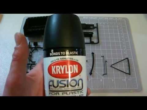 Krylon Fusion Paint Results - Styrene Plastic