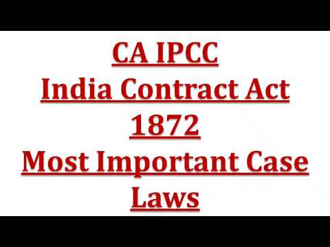 case study on indian contract act Contract of indemnity and law of the definition provided by the indian contract act confines itself to the in case of contract of guarantee the liability.