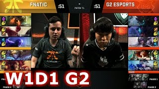 G2 eSports vs Fnatic | Game 2 S7 EU LCS Spring 2017 Week 1 Day 1 | G2 vs FNC G2 W1D1