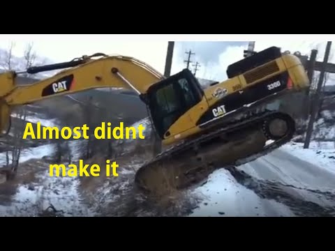 Amazing Excavator on a steep slope Music Videos