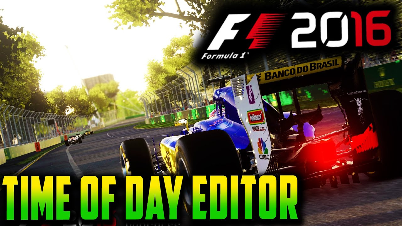 F1 2016 GAME: TIME OF DAY EDITOR - MONACO AT SUNSET, SINGAPORE IN SUNLIGHT!