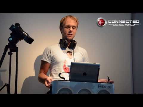 Armin van Buuren demos the Philips M1X-DJ sound system