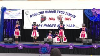 1st Place - Zaj Huam Seev - Wausau Hmong New Year Dance Competition 2018-19
