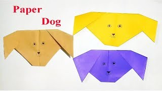 How to make Dog Face From Paper | Origami Dog Face Making Easy Way