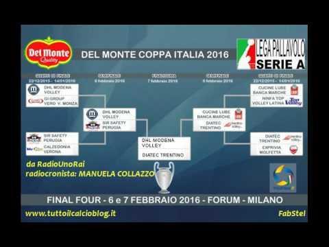 Il volley alla radio -  Modena Trento 3-0, finale Coppa Italia 2016
