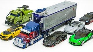 Transformers 5 Autobots Optimus Prime Bumblebee Hound Hotrod Drift Cogman Crosshair Car Robot Toys