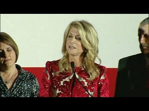 Wendy Davis addresses supporters - Nov. 4, 2014