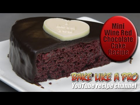 Mini Wine Red Chocolate Cake Recipe