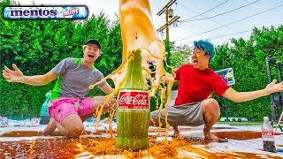 GIANT COKE AND MENTOS $10,000 EXPERIMENT!!