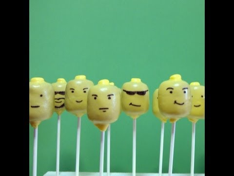 HOW TO MAKE LEGO MEN CAKE POPS