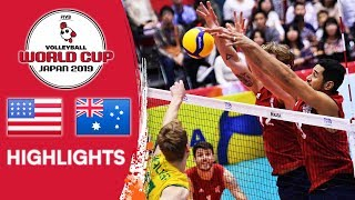 USA vs. AUSTRALIA - Highlights | Men's Volleyball World Cup 2019