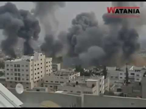 Gaza War: Strip's Bombardment by the IDF 7/8/2014 (Gaza Strip 2014)