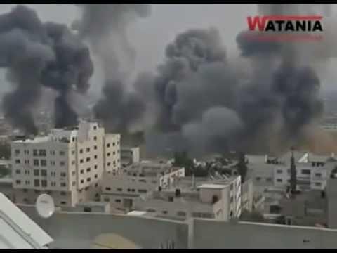 Gaza War: Strip's Bombardment by the IDF 7/8/2014 (Gaza Strip 2014)