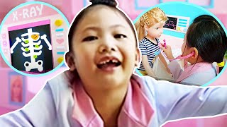 Barbie DOCTOR Play ! Boxfort Hospital Ambulance Toys and Dolls !