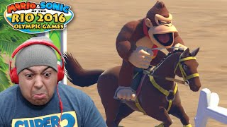 DONKEY B#TCH ASS ON A HORSE!? [MARIO & SONIC RIO 2016 OLYMPIC GAMES]