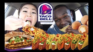 BEST NEW TACO BELL TASTING MUKBANG | EATING SHOW | TRIPLE DOUBLE CRUNCHWRAP + MEXICAN PIZZA