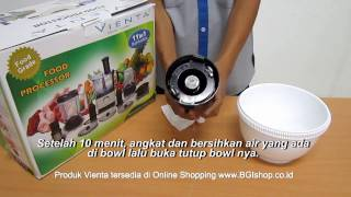 Vienta - Tips Cara Membuka Bowl Vienta Food Processor Terkunci