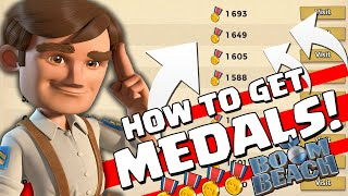 "Boom Beach - ""HOW TO GET MEDALS IN BOOM BEACH"" - Pushing In Boom Beach"
