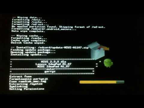 Como Instalar ROM MIUI En tablet Ideapad A1-07   ANDROID 2.3 LENOVO