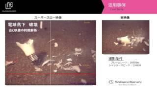 ハイスピードカメラ+データロガー 「電球の落下映像」
