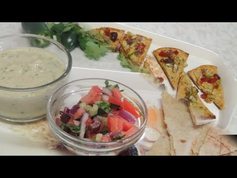Mediterranean Plate - Hummus and Pita chips Video Recipe - Health diet