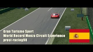 GT Sport | prost-racing98 WORLD RECORD Circuit Experience Ferrari 458 GT3 @ Monza 1:45.488