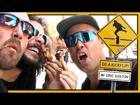 """DO A KICKFLIP!"" With Eric Koston & Crew In Downtown Los Angeles"