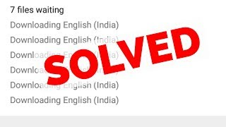 Cancel/Disable Downloading English (India)-Download Size Requires Wi-Fi||Android