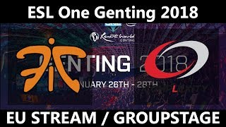 Fnatic vs CompLexity Gaming - ESL One Genting 2018 - coL vs Fnatic