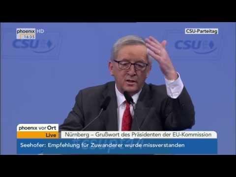 CSU-Parteitag: Jean-Claude Juncker hält Grußwort am 12.12.2014