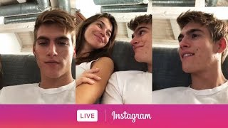Presley Gerber's Instagram Live with girlfriend Charlotte D'Alessio. (May 3, 2018)