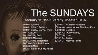 The Sundays - Live at Varsity Theater, Baton Rouge, Usa, February 15, 1993