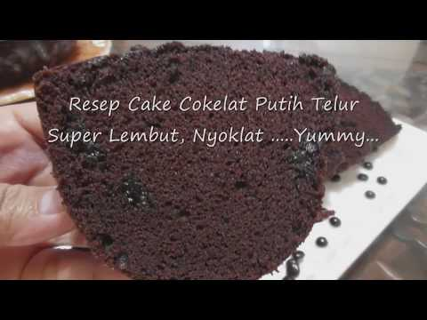 Resep Cake Cokelat Putih Telur Yang Lembut dan Yummy