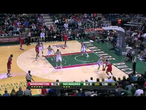 NBA Washington Wizards Vs Milwaukee Bucks Highlights Feb 28, 2012 Game Recap