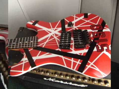 HOW TO PAINT A 5150 VAN HALEN EVH GUITAR NEW PROJECT PART 2 OF 2
