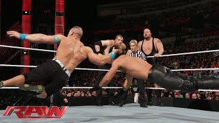John Cena vs. Seth Rollins, Big Show & Kane - 3-on-1 Handicap Match: Raw, January 19, 2015