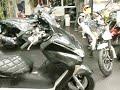 ホンダ フォルツァ・Z ステンメガホンマフラー ダイヤカットシート フロントマスク 250cc ブラック★ 日本 バイク買取センターMCG福岡