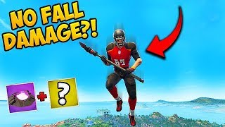 *TRICK* TAKE NO FALL DAMAGE! - Fortnite Funny Fails and WTF Moments! #391