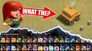 Town Hall 3 IN CLAN WAR.........WHAT! - Clash Of Clans