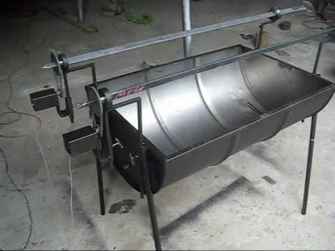 Pancho con motor con dos asadores youtube - Como hacer un asador ...
