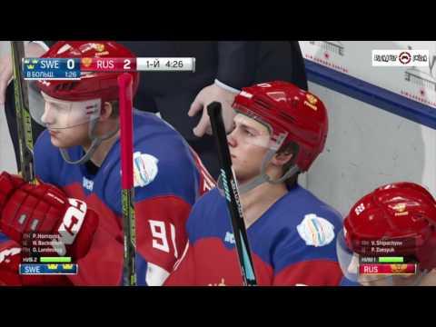 NHL 17 Обзор Геймплей Россия - Швеция PS4